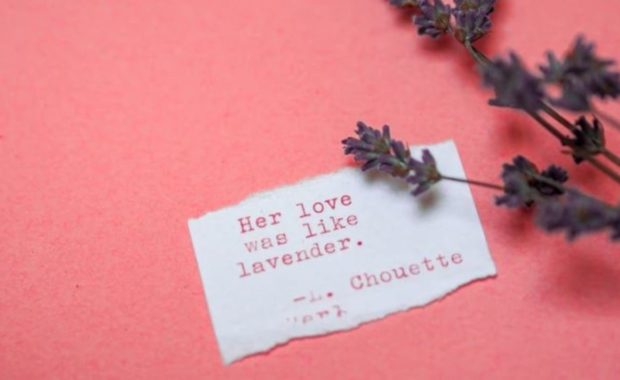 Love Poetry in English Love Note