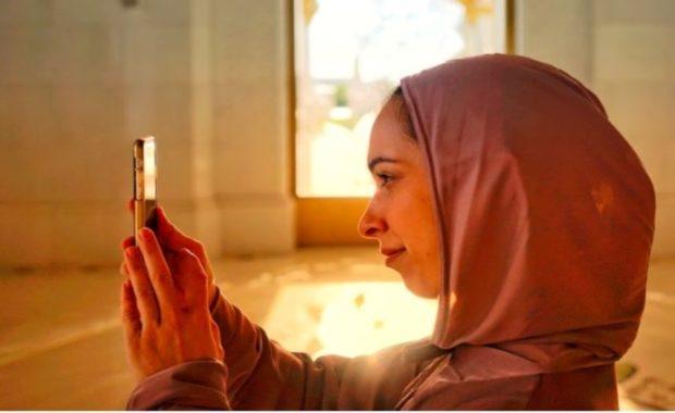 Love in Arabic Woman in Temple